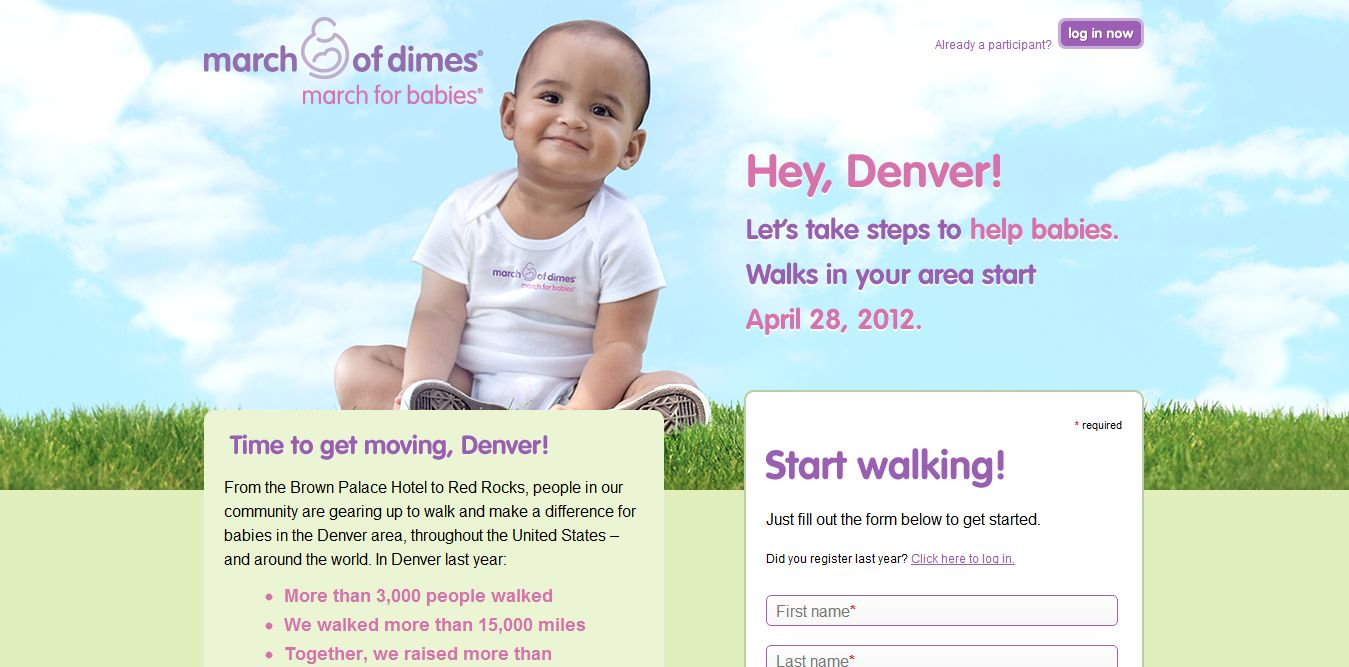March of Dimes, March for Babies